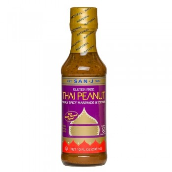 San-J Thai Peanut Cooking Sauce (6x10 Oz)