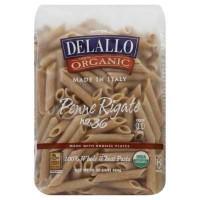 De Lallo Penne Rigate Whole Wheat Pasta (16x1 LB)