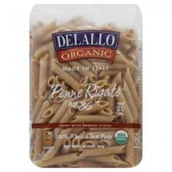 De Lallo Penne Rigate Whole Wheat Pasta (16x1 LB)