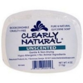 Clearly Naturals Unscented Glycerin Soap (1x4 Oz)