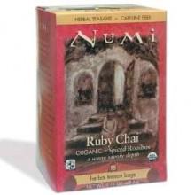 Numi Tea Ruby Chai Herbal Tea (6x18 Bag)