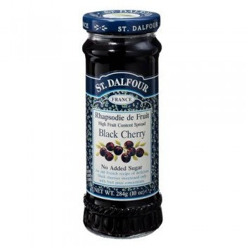 St. Dalfour Black Cherry 100% Fruit Conserve (6x10 Oz)