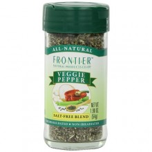 Frontier Herb Saltless Veggie Pepper (1x1.76 Oz)