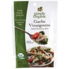 Simply Organic Org Garlic Vinaigrette Salad Dressing Mix (12x1 Oz)