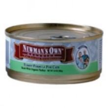 Newman's Own Turkey Cat Food Can (24x5.5 Oz)