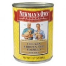 Newman's Own Chicken & Rice Dog Food Can (12x12.7 Oz)