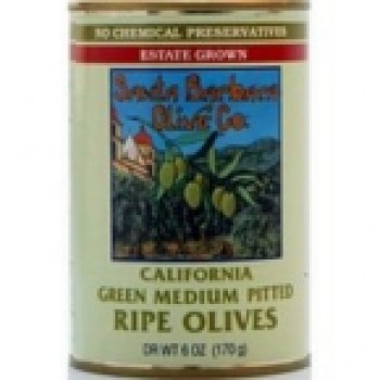 Santa Barbara Cal Green Pitted Olives (12x6 Oz)