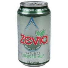 Zevia Natural Ginger Ale Diet Soda (4x6x12 Oz)