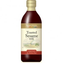 Spectrum Naturals Unrefined Toasted Sesame Oil ( 6x8 Oz)