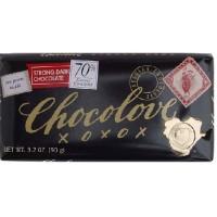 Chocolove Strong Dark Chocolate Bar (12x3.2 Oz)