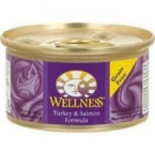 Wellness Canned Turkey Salmon Cat Food (24x3 Oz)