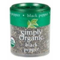 Simply Organic Mini Ground Pepper Black Med (6x.56 Oz)
