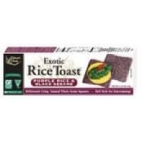 Edward & Sons Black Sesame Brown Rice Toast (12x2.25 Oz)