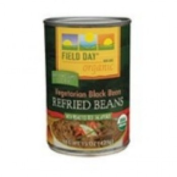 Field Day Vegetarian Black Refried Beans (12x15 Oz)