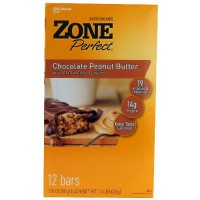 Zone Choc Peanut Butter Nutrition Bar (12x1.76 Oz)