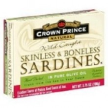 Crown Prince Sardines Skinless Boneless in Oil (12x3.75 Oz)