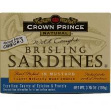 Crown Prince Sardines in Mustard Sauce (12x3.75 Oz)