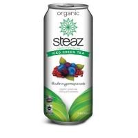Steaz Energy Org Blueberry Pomegrte Acai Iced Green Tea (12x16 Oz)
