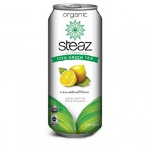 Steaz Energy Unsweetened Lemon Iced Green Tea (12x16 Oz)