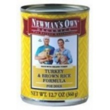 Newman's Own Turkey & Br Rc Dog Food (12x12.7 Oz)