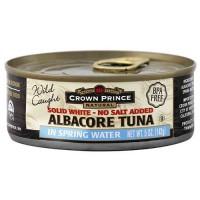 Crown Prince Albacore Tuna in Water No Salt Added (12x12 Oz)
