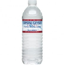 Crystal Geyser Alpine Spring Water Plst .5 Liter (4x6x16.9Oz)