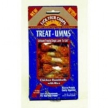 Lick Your Chops Chicken & Dumbells Treat-Umms (6x2.5 Oz)