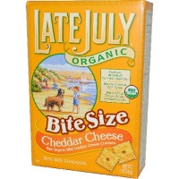Late July Bite Size Cheddar Cheese (12x5 Oz)