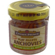 Crown Prince Flat Anchovies in Oil (18x1.5 Oz)