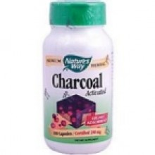 Nature's Way Activated Charcoal Int C (1x100 CAP)