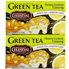 Celestial Seasonings Honey Lemon Ginseng Green Tea (6x20 Bag)