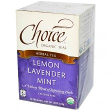 Choice Organic Teas Lemon Lavender Mint Tea Ft (6x16 Bag)