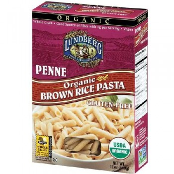 Lundberg Farms Penne Brown Rice Pasta (12x12 Oz)