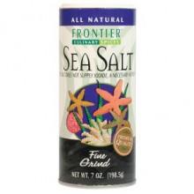 Frontier Herb Fine Sea Salt (1x7 Oz)