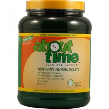 About Time Whey Protein Isolate Unflavored - 2 lbs
