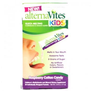 Alternavites Kids Quick-Melting Multivitamins Raspberry Cotton Candy - 30 Packets