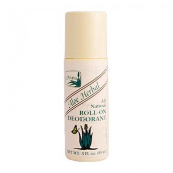 Alvera All Natural Roll-On Deodorant Aloe Herbal - 3 fl oz