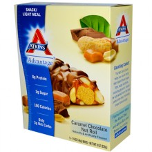 Atkins Advantage Bar Caramel Chocolate Nut - 5 Bars