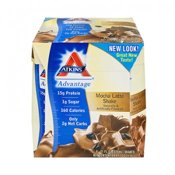 Atkins Advantage RTD Shake Mocha Latte - 11 fl oz Each / Pack of 4