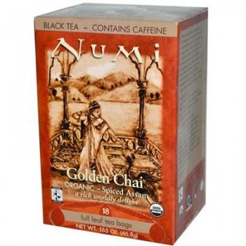 Numi Tea Golden Chai Black Tea (6x18 Bag)