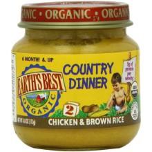 Earth's Best Chicken & Brown Rice Dinner (12x4 Oz)