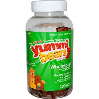 Hero Nutritionals Yummi Bears Whole Food Supplement Value Pk (1x200BEARS)