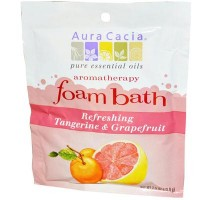 Aura Cacia Tangerine and Grapefruit Foam Bath (6x2.5 Oz)