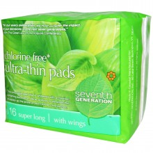 Seventh Generation Ultra Thin Super Long Pads (12x16 CT)