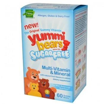 Hero Nutritionals Yummy Bears Multi-Vitamin & Mineral Sugar Free (60 CT)