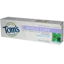 Tom's Of Maine Peppermint Whole Care Gel Toothpaste (6x4.7 Oz)