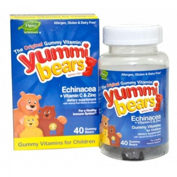 Hero Nutritionals Yummi Bears Echinacea (1x40 BEARS)
