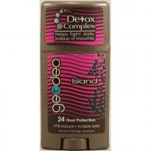 Geo-Deo Natural Deodorant Stick with Detox Complex Island (1x2.3 Oz)