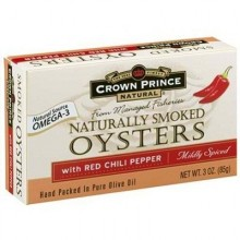 Crown Prince Oysters W/Chli Pepper (18x3OZ )