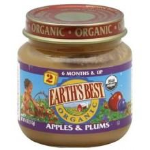 Earth's Best Baby Foods Baby Apple/Plum (12x4OZ )